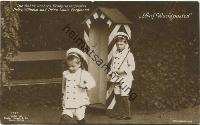 Preussen - Die Söhne unseres Kronprinzenpaares - Prinz Wilhelm und Prinz Louis Ferdinand - Verlag Gustav Liersch & Co. B