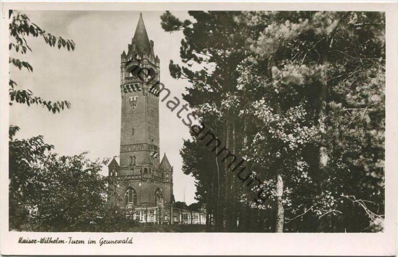 Berlin - Kaiser-Wilhelm-Turm im Grunewald - Foto-AK 50er Jahre - Verlag Max O'Brien Berlin