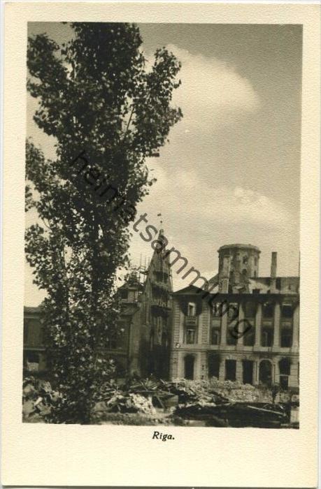 Riga in Trümmern - Foto-AK 40er Jahre