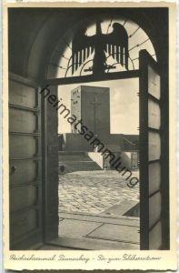 Hohenstein - Olsztynek - Reichsehrenmal Tannenberg - Tor zum Feldherrenturm - Foto-Ansichtskarte