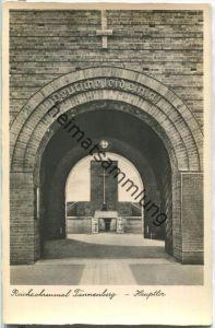 Hohenstein - Olsztynek - Reichsehrenmal Tannenberg - Haupttor - Foto-Ansichtskarte - Verlag E. Grüneberger Hohenstein
