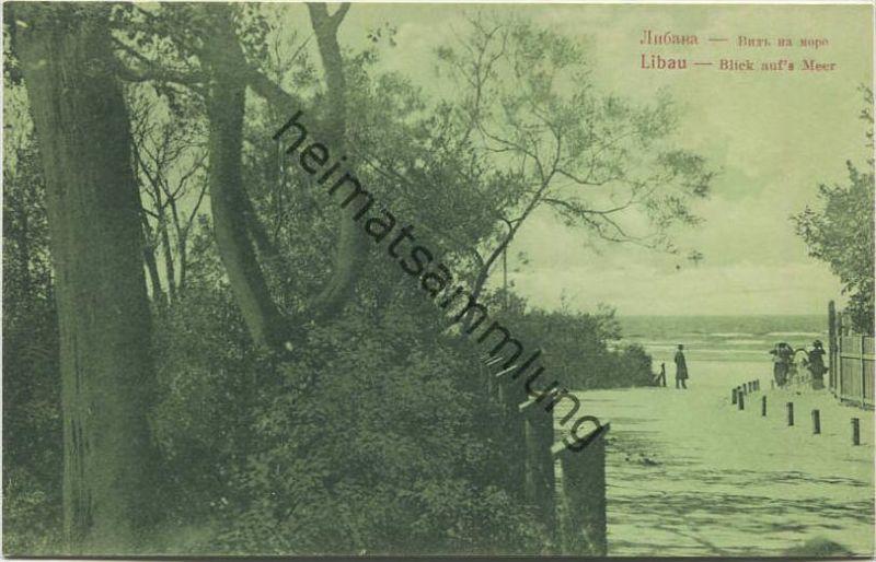 Liepaja - Libau - Blick auf's Meer - Verlag A. Dunkert Libau