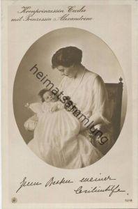 Preussen - Kronprinzessin Cecilie mit Prinzessin Alexandrine - Verlag NPG - Phot. van Dühren Berlin