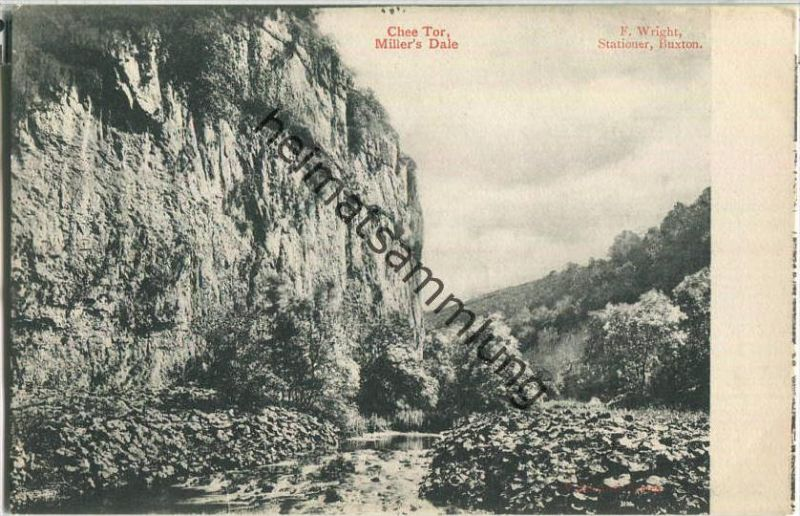 Millers Dale - Chee Tor - Verlag F. Wright Buxton