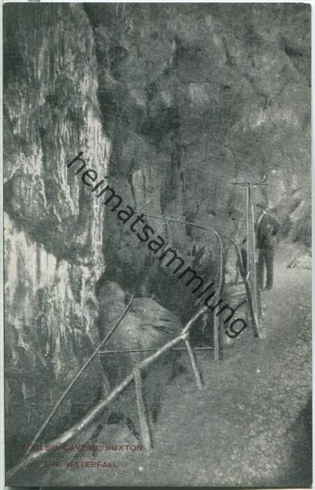 Poole's Cavern - Buxton - The Waterfall - Verlag F. Redfern