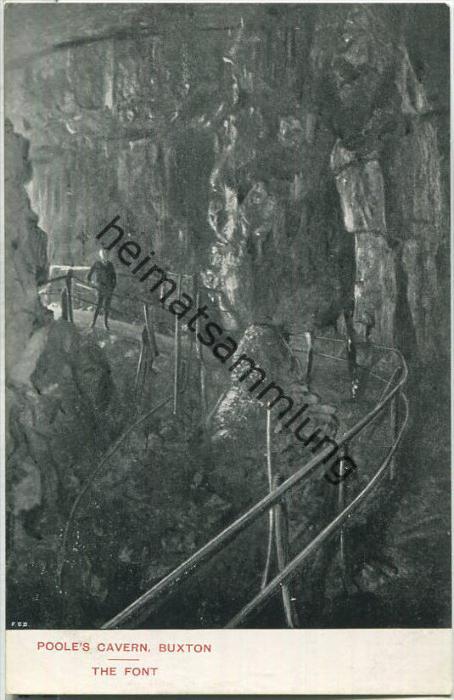 Poole's Cavern - Buxton - The Font - Verlag F. Redfern