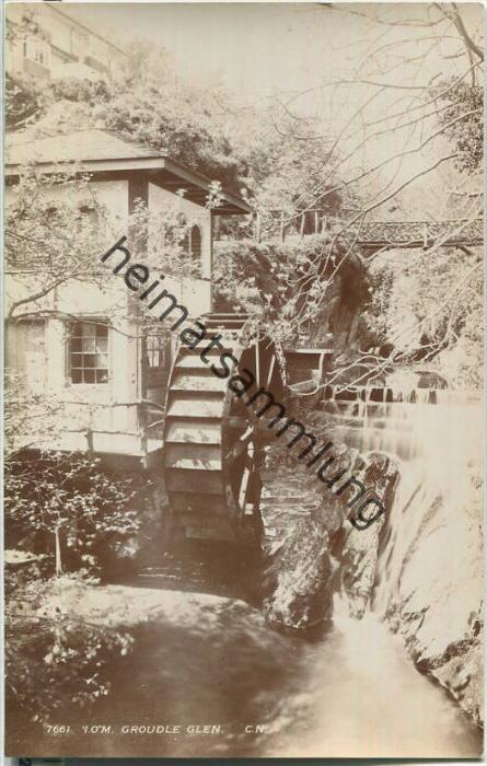 Isle of Man - Groudle Glen - Wassermühle - Wasserrad - Foto-Ansichtskarte