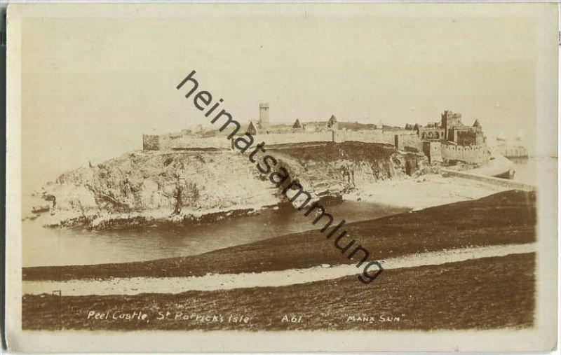 Isle of Man - St. Patrick's Isle - Peel Castle - Foto-Ansichtskarte