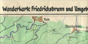 Wanderkarte Friedrichsbrunn und Umgebung - 59cm x 42cm MdJ der DDR Nr. 812 1. Auflage - gefaltet
