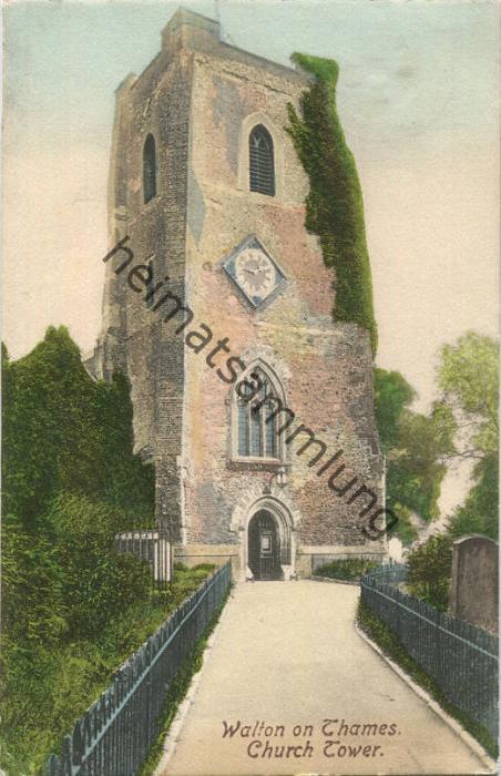 Surrey - Walton on Thames - Church Tower gel. 1905