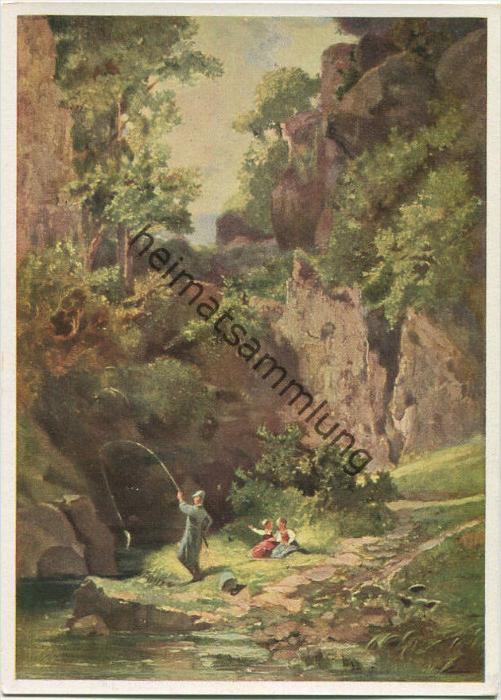 Karl Spitzweg - Landschaft mit Angler