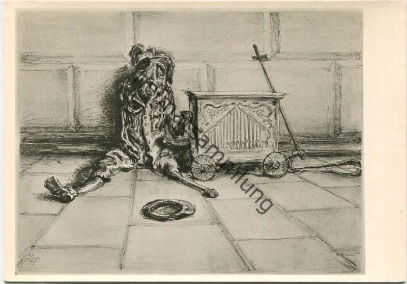 Der Invalide - Künstlerkarte A. Paul Weber - Lithografie Nr. 53