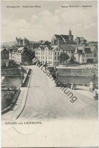 Herborn - Hickegrund - Hotel zum Ritter - Verlag Louis Baumann Herborn - Feldpost gel. 1916