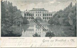 Frankfurt a. M. - Zoologischer Garten - Verlag Stern & Löb Frankfurt gel. 1899