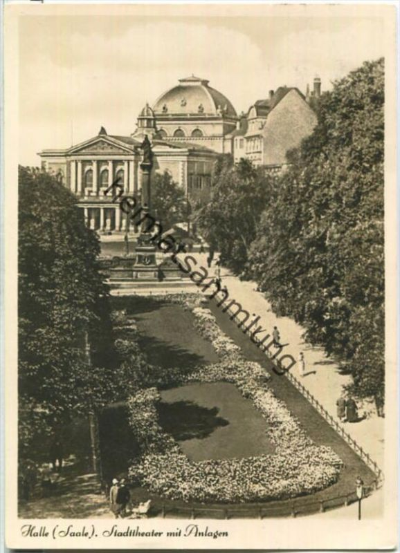 Halle (Saale) - Stadttheater - Foto-Ansichtskarte - Verlag Walter Meixner Leipzig