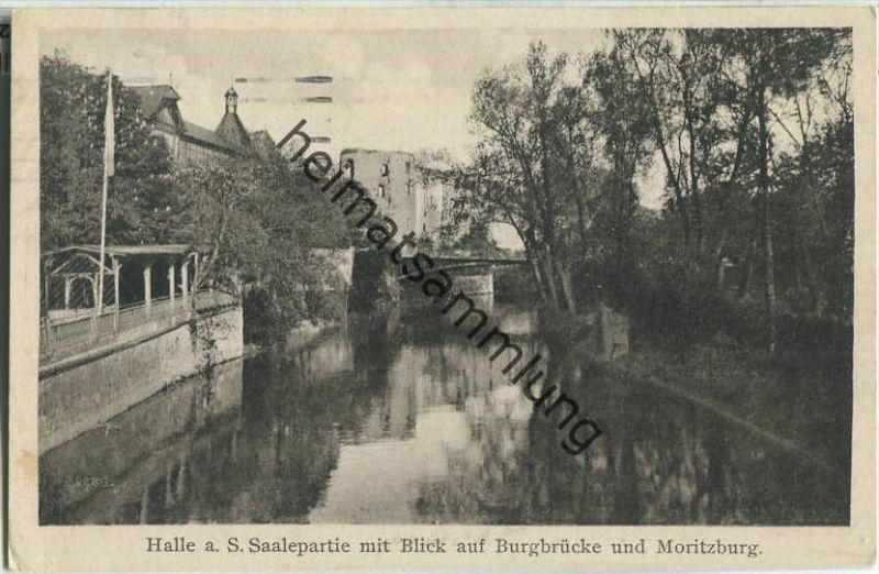 Halle (Saale) - Burgbrücke - Verlag Paul F. Weber Leipzig