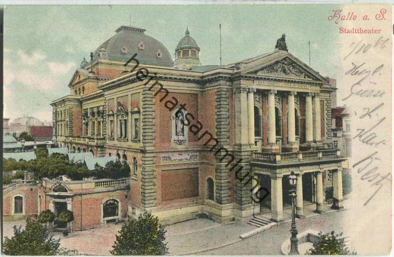 Halle (Saale) - Stadttheater - Verlag H. Leistenschneider Halle