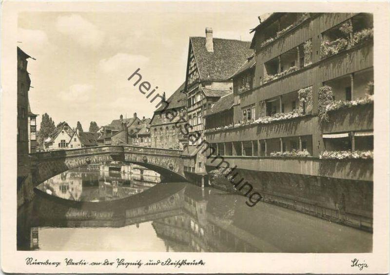 Nürnberg - Pegnitz - Fleischbrücke - Foto-AK-Grossformat - Verlag Stoja-Veri Nürnberg