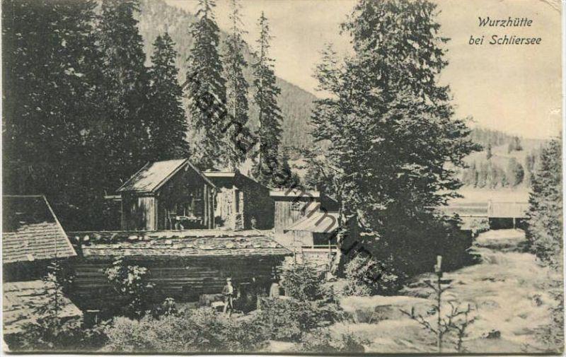 Schliersee - Wurzhütte gel. 1905