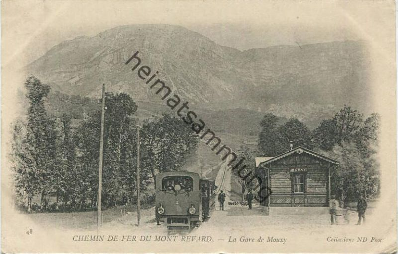 Aix-les-Bains - Chemin de fer du Mont Revard - La Gare de Mouxy gel. 1903