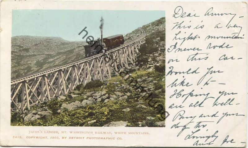 New Hampshire - White Mountains - Mt. Washington Cog Railway - Jacobs Ladder - Zahnradbahn - Copyright by Detroit Photog