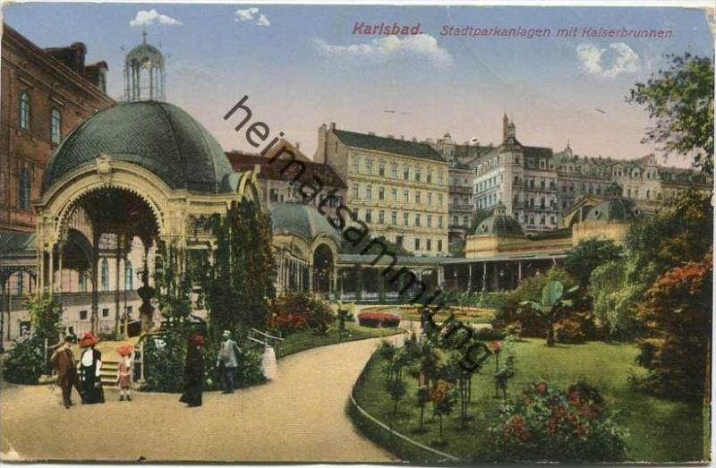 Karlsbad Stadtparkanlagen Mit Kaiserbrunnen Verlag Ottmar Zieher München Gel 192