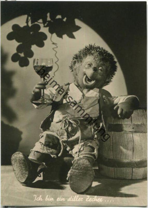 Mecki - Ohne Wein und Liebe ist das Leben trübe - Nr. 8 - Verlag Für Kunstfreunde Salzburg - Foto-Ansichtskarte