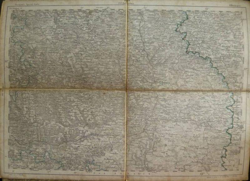 Ellwangen - Topographische Karte 239 - 26cm x 36cm - Reymann 's Special-Karte - Entwurf und gezeichnet F. Handtke - Situ