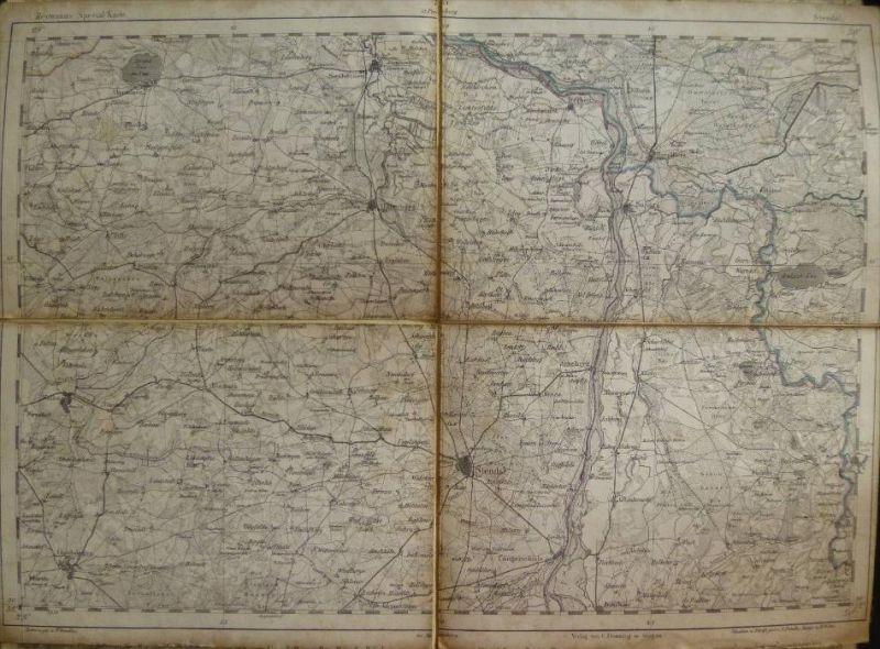 Stendal - Topographische Karte 73 - 26cm x 36cm - Reymann 's Special-Karte - Entwurf und gezeichnet F. Handtke - Situati