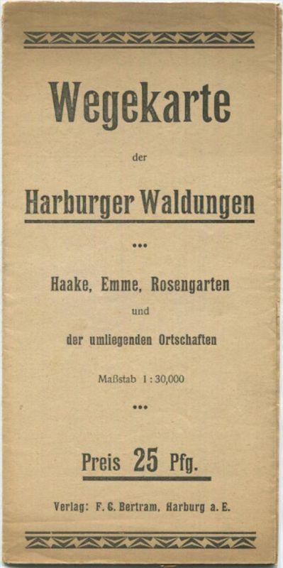 Wegekarte der Harburger Waldungen - Haake Emme Rosengarten und der umliegenden Ortschaften - 38cm x 40cm 1:30'000 Verlag