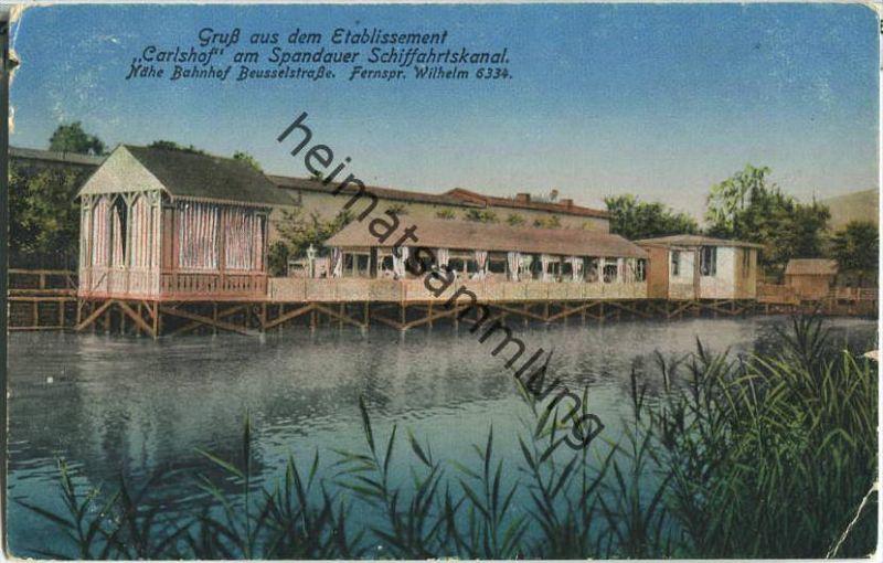 Berlin - Carlshof am Spandauer Schifffahrtskanal - nähe Bahnhof Beusselstrasse - Verlag Arthur Redecker Berlin