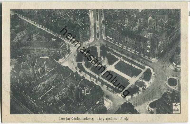 Berlin-Schöneberg - Bayrischer Platz - Fliegeraufnahme - Verlag Luftbild GmbH Berlin 30er Jahre