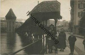 Luzern - Kapellbrücke - Foto-AK