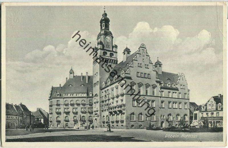 04720 Döbeln - Rathaus - Feldpost - Verlag Franz Richter Weinböhla