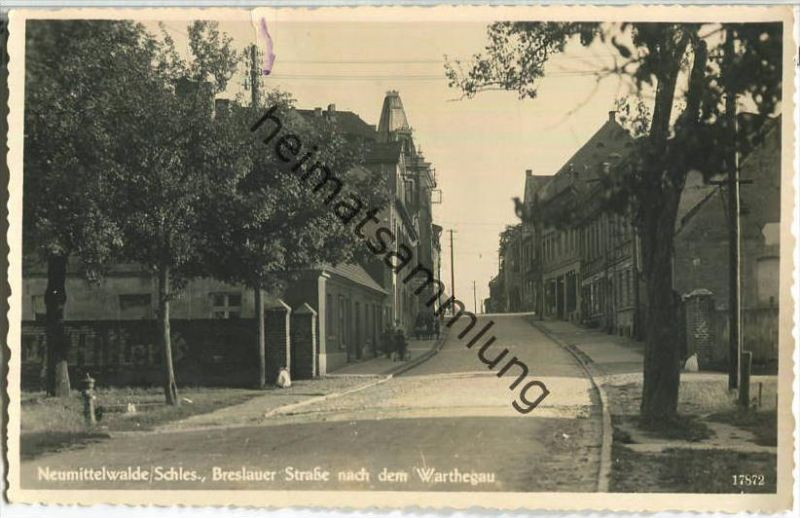 Miedzyborz - Neumittelwalde - Breslauer Strasse nach dem Warthegau - Hotel Breslauer Hof