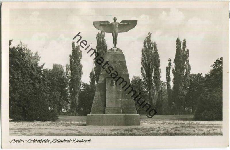 Berlin - Lichterfelde - Lilienthal-Denkmal - Foto-Ansichtskarte - Verlag Kunst und Bild Berlin