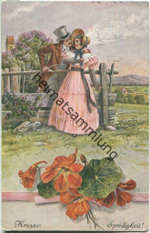 Blumensprache - Kresse Sprödigkeit - Verlag Gebrüder Dietrich Leipzig