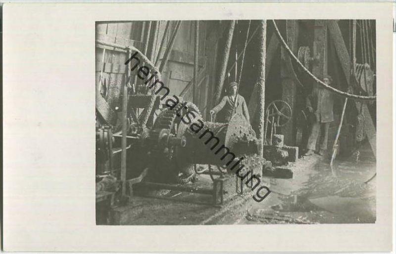 Erdöl-Arbeiter - Foto-Ansichtskarte - Erdöl - oil