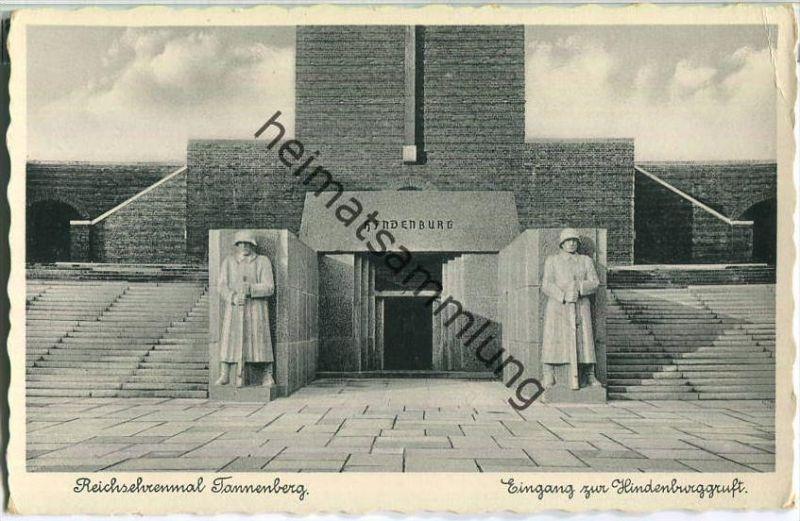 Reichsehrenmal Tannenberg - Eingang zur Hindenburggruft