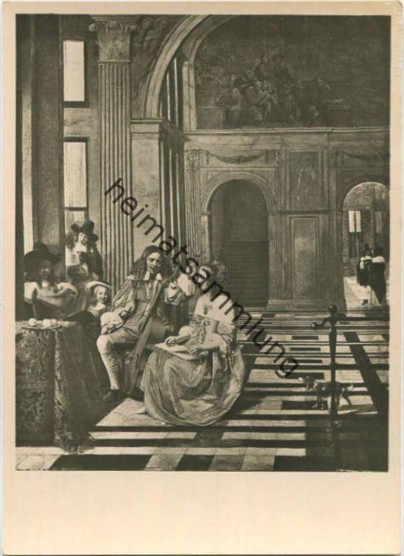 Pieter de Hooch - Musizierende Gesellschaft in der Vorhalle eines vornehmen Hauses - Leipzig - Museum der bildenden Küns