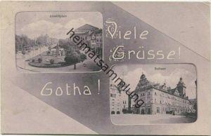 Gotha - Arnoldplatz - Rathaus - Verlag Carl H. Odemar Magdeburg