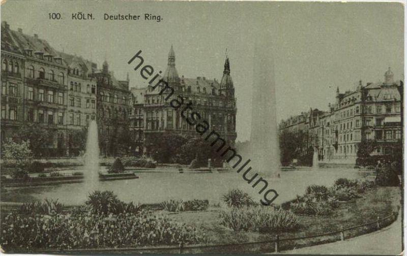 Köln - Deutscher Ring - Verlag E. B. C. gel. 1912