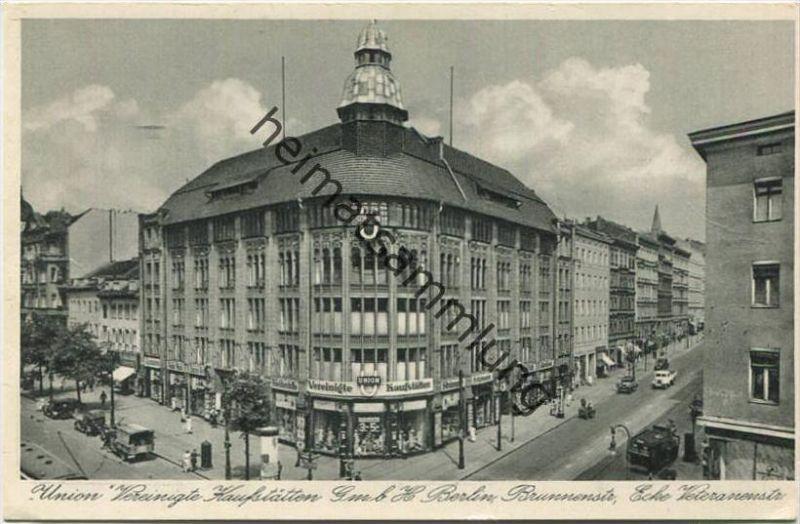 Berlin-Mitte - Union Vereinigte Kaufstätten GmbH - Brunnenstraße Ecke Veteranenstraße
