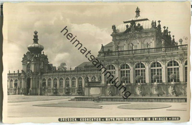 Dresden - Zwinger - Kronentor - Foto-Ansichtskarte
