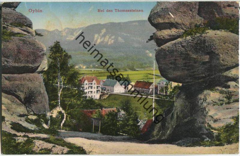 Oybin - Bei den Thomassteinen - Verlag Hermann Richter Zittau