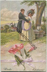 Blumensprache - Winde Schelmerei - signiert G. Franke - Verlag Gebrüder Dietrich Leipzig