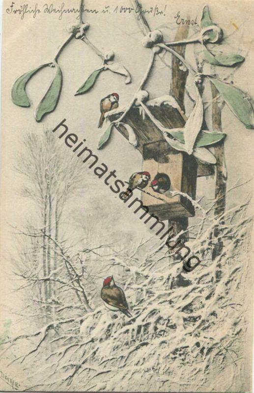 Winterlandschaft - Künstlerkarte signiert Döcker - M.M. Vienne Nr. 117 gel. 1902