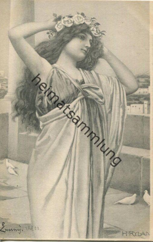 H. Ryland - junge Frau - Serie 207 No. 8 - Verlag Theo Stöfer Nürnberg - beschrieben 1903