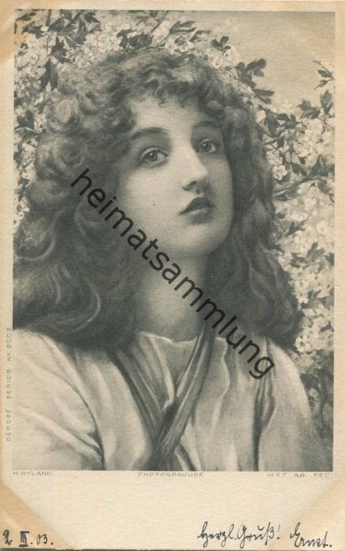H. Ryland - junge Frau - Series 6003 - beschrieben 1903