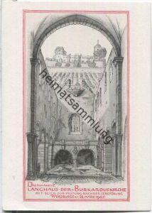 Würzburg - Langhaus der Burkarduskirche - zerstört 1945 - Verlag Ferdinand Schöningh Würzburg - Ansichtskarte Großformat